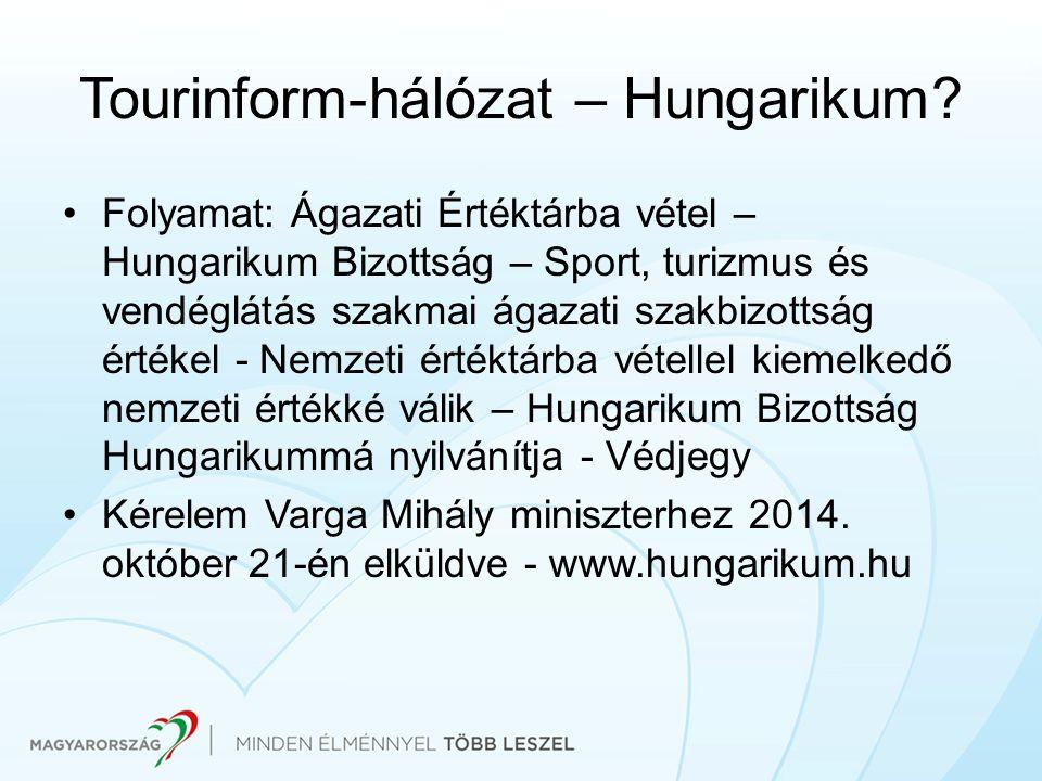 Tourinform-hálózat – Hungarikum? Folyamat: Ágazati Értéktárba vétel – Hungarikum Bizottság – Sport, turizmus és vendéglátás szakmai ágazati szakbizott