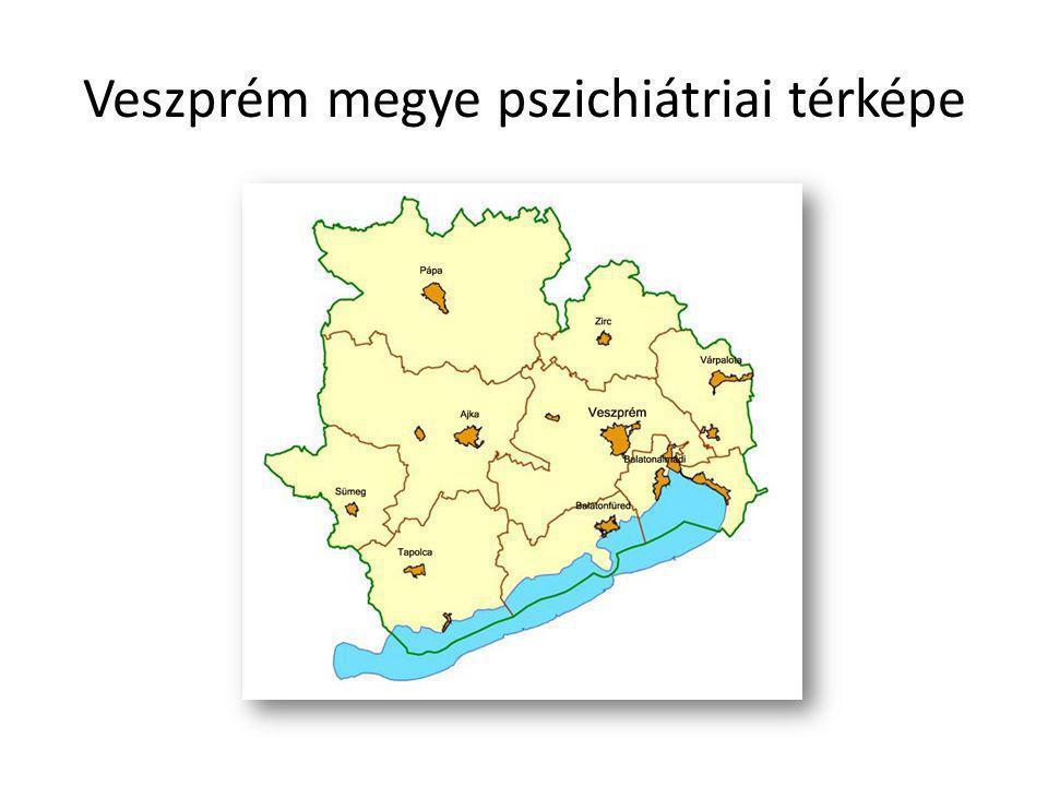 Veszprém megye pszichiátriai térképe