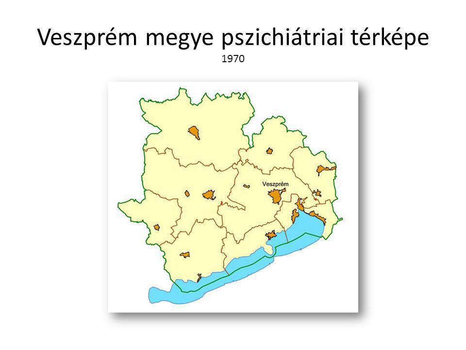 Veszprém megye pszichiátriai térképe 1970