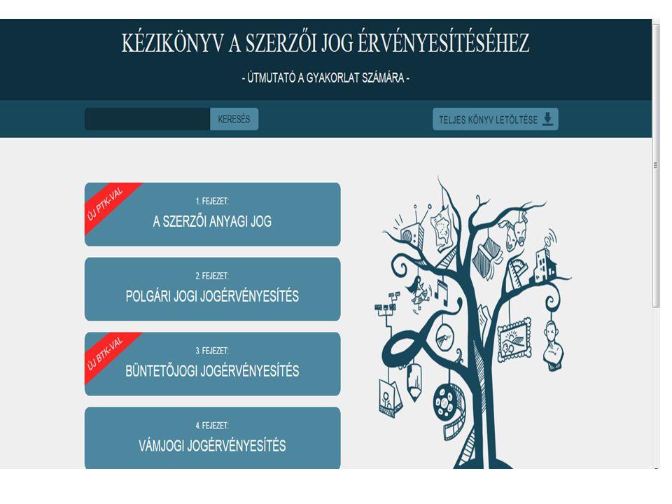 A szerzői jogi jogvédelem -polgári jogi eszközök -Új Ptk.