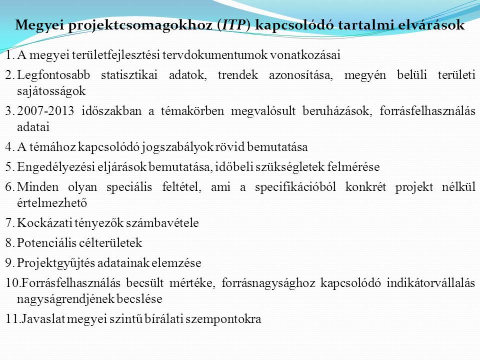 1.A megyei területfejlesztési tervdokumentumok vonatkozásai 2.Legfontosabb statisztikai adatok, trendek azonosítása, megyén belüli területi sajátosság
