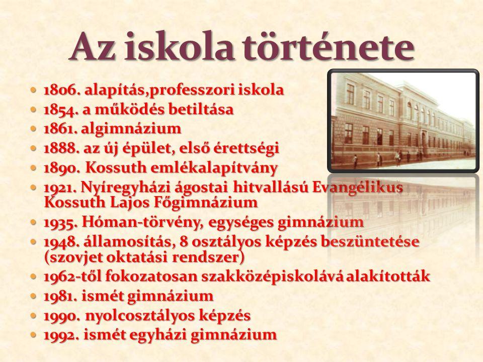 1806.alapítás,professzori iskola 1806. alapítás,professzori iskola 1854.