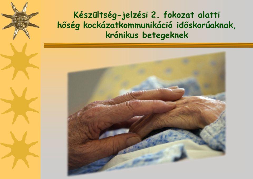 Készültség-jelzési 2. fokozat alatti hőség kockázatkommunikáció időskorúaknak, krónikus betegeknek