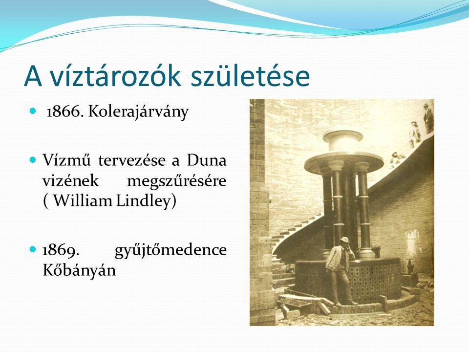 A víztározók születése 1866.