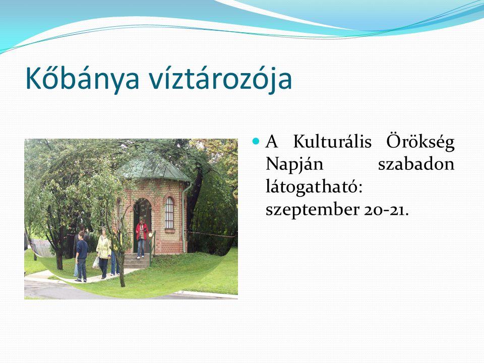Kőbánya víztározója A Kulturális Örökség Napján szabadon látogatható: szeptember 20-21.