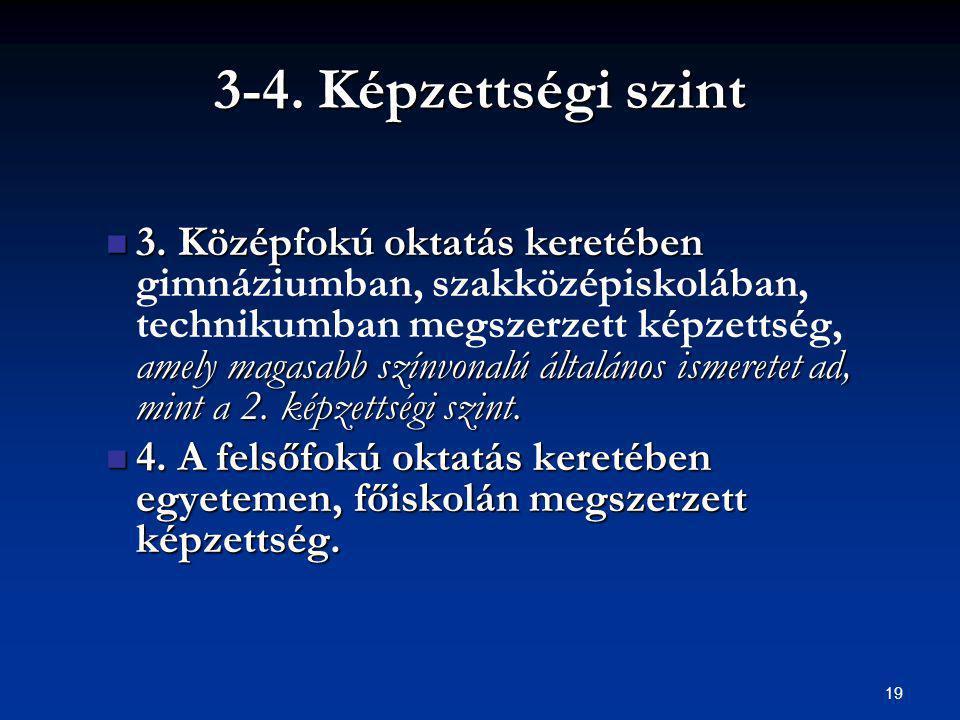 3-4. Képzettségi szint 3.