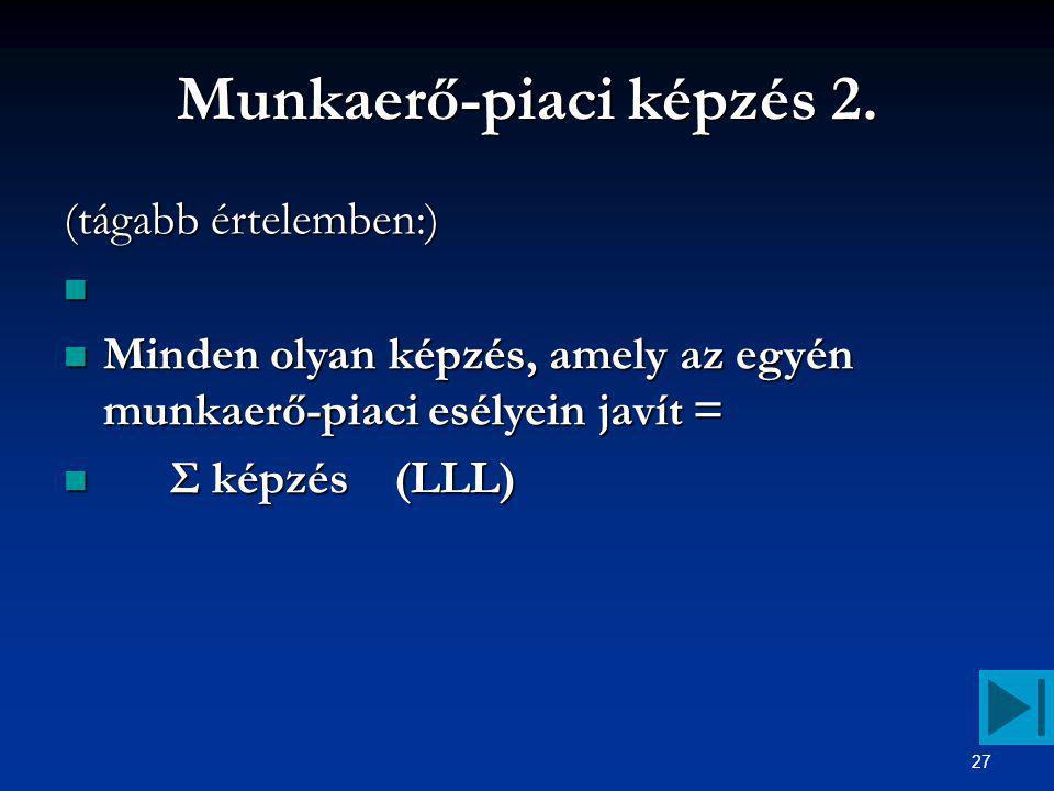 27 Munkaerő-piaci képzés 2.