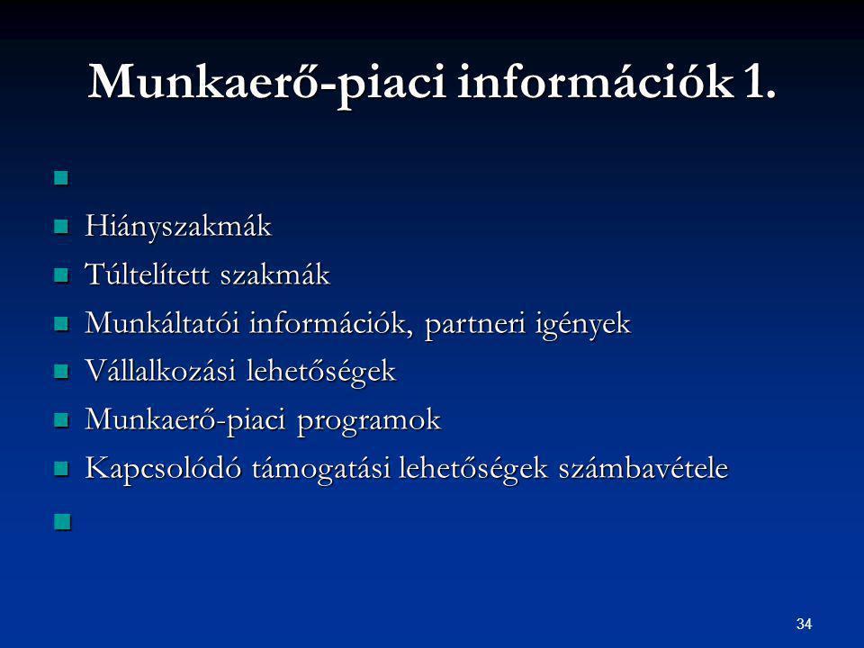 34 Munkaerő-piaci információk 1.