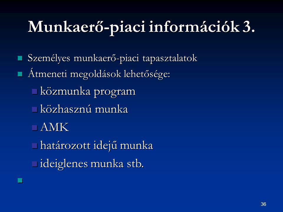 36 Munkaerő-piaci információk 3.