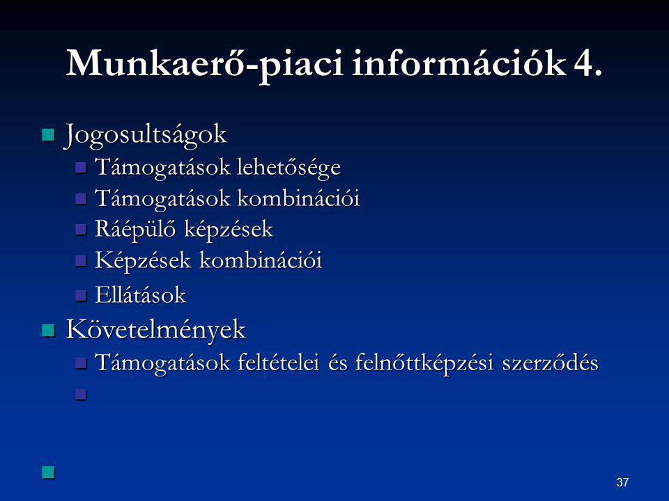 37 Munkaerő-piaci információk 4.