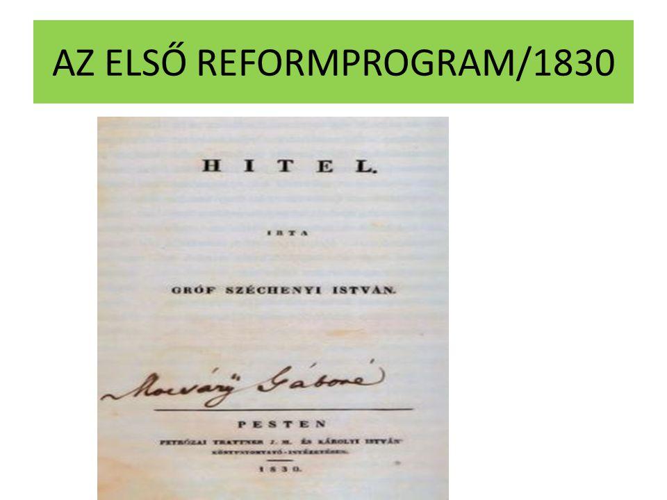 AZ ELSŐ REFORMPROGRAM/1830