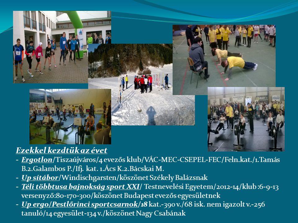 Ezekkel kezdtük az évet -Ergotlon/Tiszaújváros/4 evezős klub/VÁC-MEC-CSEPEL-FEC/Feln.kat./1.Tamás B.2.Galambos P./Ifj. kat. 1.Ács K.2.Bácskai M. -Up s
