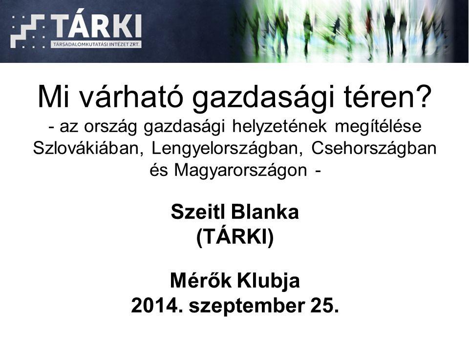 Mi várható gazdasági téren? - az ország gazdasági helyzetének megítélése Szlovákiában, Lengyelországban, Csehországban és Magyarországon - Szeitl Blan