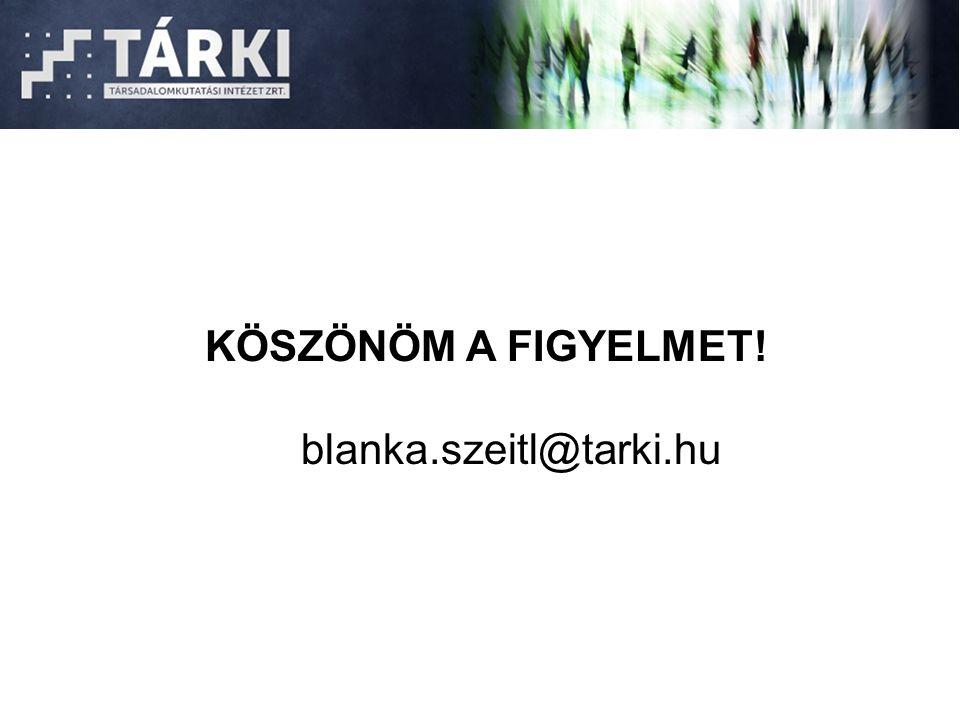 KÖSZÖNÖM A FIGYELMET! blanka.szeitl@tarki.hu