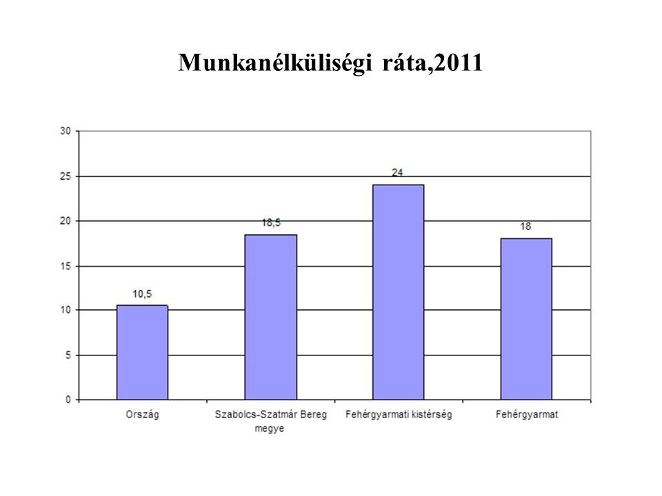 Munkanélküliségi ráta,2011