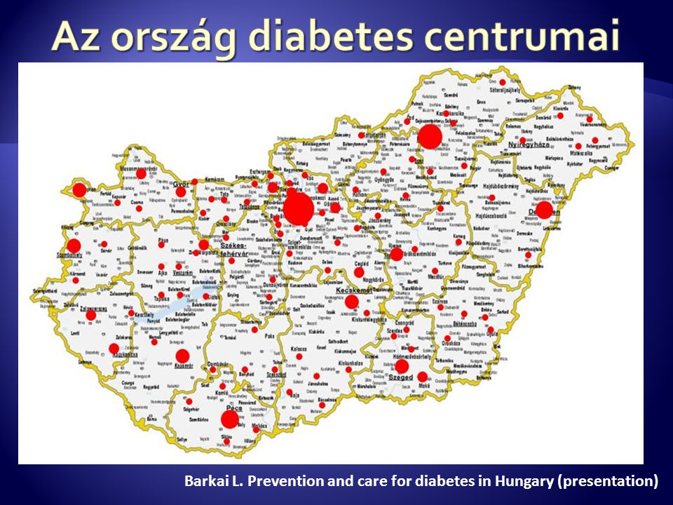 Barkai L. Prevention and care for diabetes in Hungary (presentation)