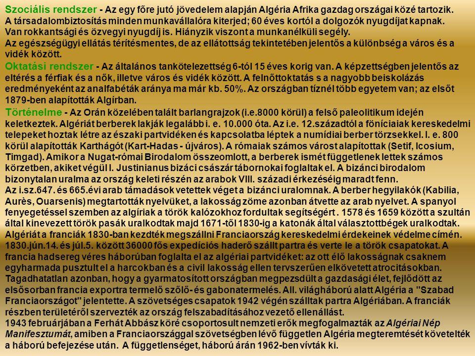 Algír – Kert az Abderahman sugárúton