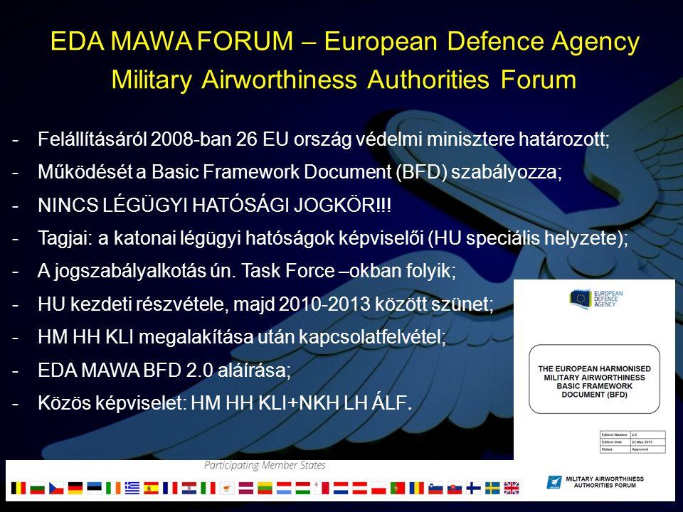 -Felállításáról 2008-ban 26 EU ország védelmi minisztere határozott; -Működését a Basic Framework Document (BFD) szabályozza; -NINCS LÉGÜGYI HATÓSÁGI