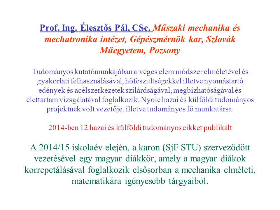 Prof.Ing. Hulkó Gábor, DrSc.