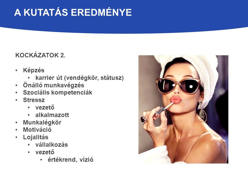 A KUTATÁS EREDMÉNYE KOCKÁZATOK 3.