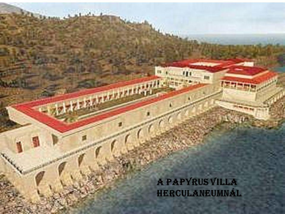 A PAPYRUS VILLA HERCULANEUMNÁL