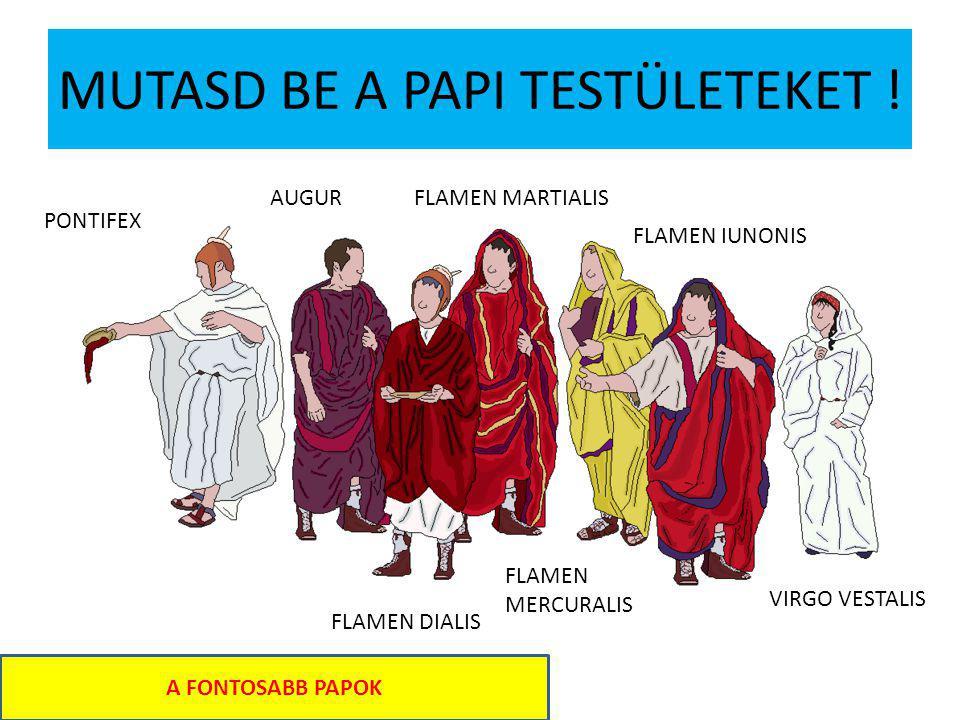 MUTASD BE A PAPI TESTÜLETEKET .