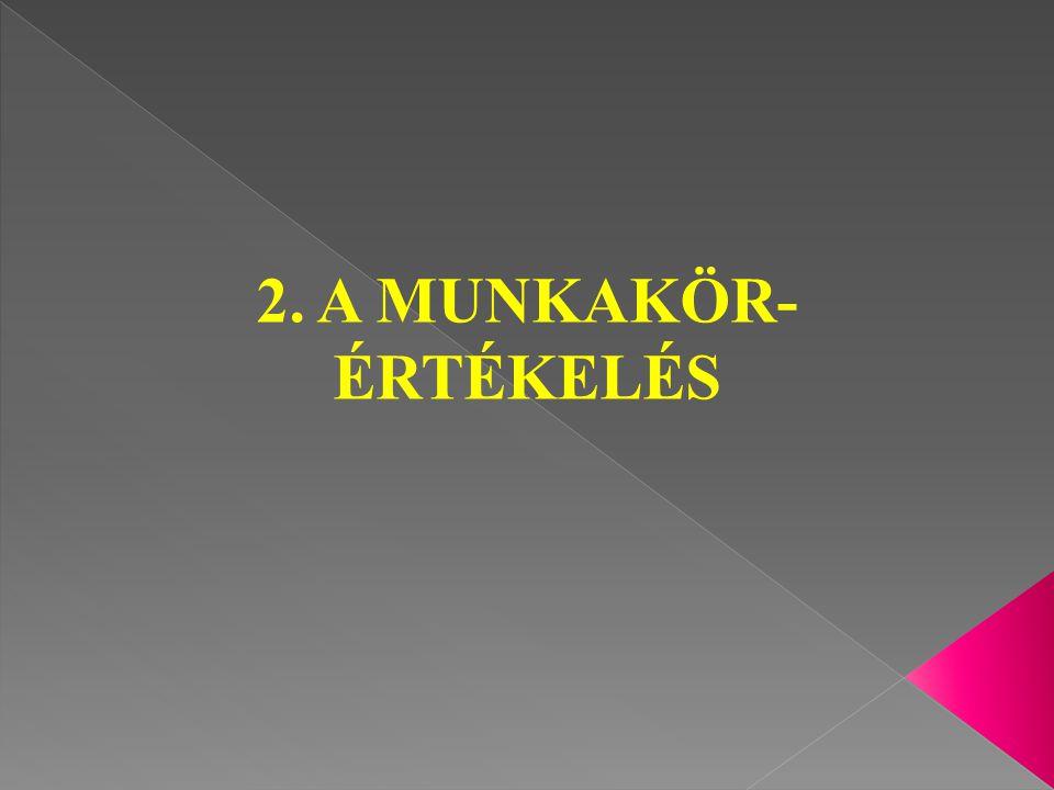 2. A MUNKAKÖR- ÉRTÉKELÉS