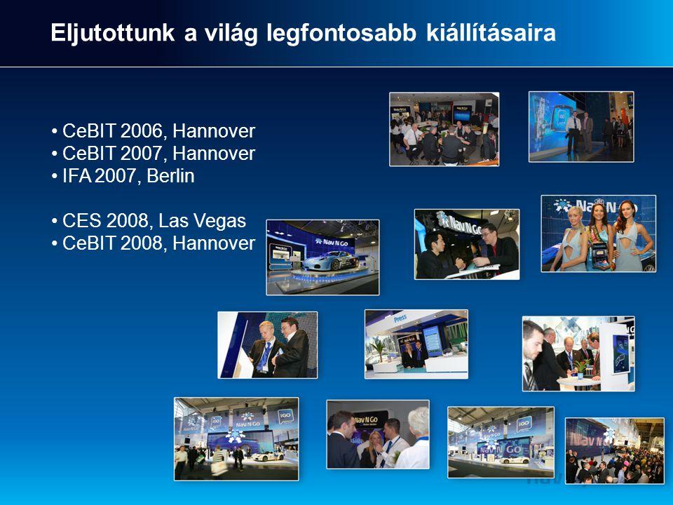 Eljutottunk a világ legfontosabb kiállításaira CeBIT 2006, Hannover CeBIT 2007, Hannover IFA 2007, Berlin CES 2008, Las Vegas CeBIT 2008, Hannover