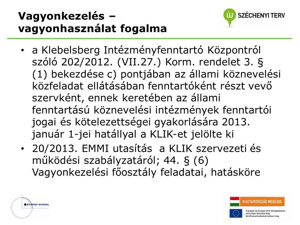 a Klebelsberg Intézményfenntartó Központról szóló 202/2012. (VII.27.) Korm. rendelet 3. § (1) bekezdése c) pontjában az állami köznevelési közfeladat