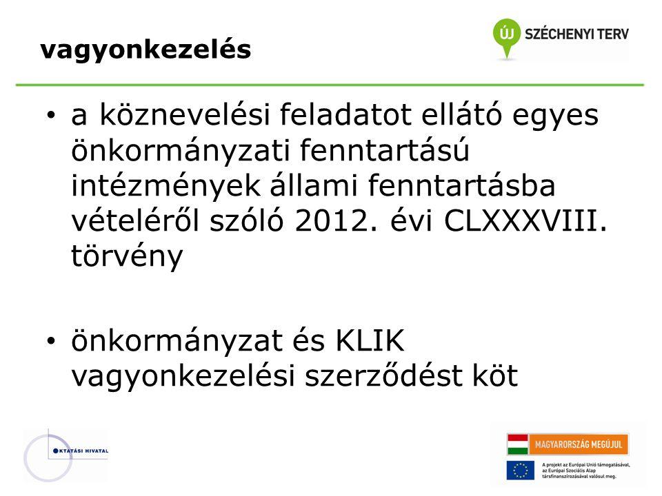 a köznevelési feladatot ellátó egyes önkormányzati fenntartású intézmények állami fenntartásba vételéről szóló 2012. évi CLXXXVIII. törvény önkormányz