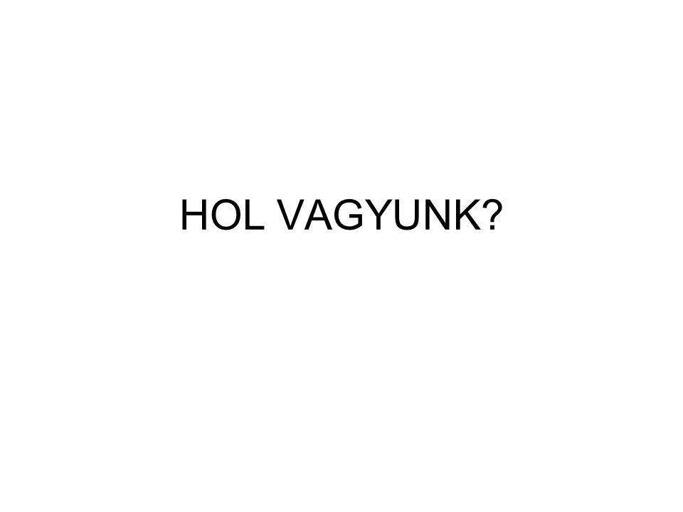 HOL VAGYUNK?