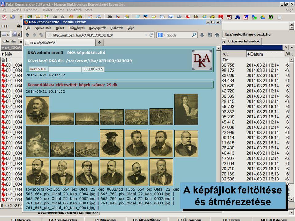 Katalogizálás, metaadatok DKA katalogizáló űrlapok katalóguscédula a képoldalon részletes metaadatok (közel százféle adat írható le) XML metaadatok