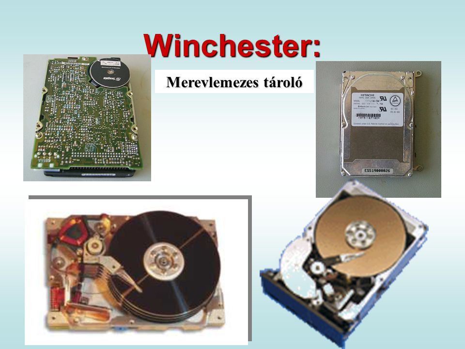 Winchester: Merevlemezes tároló