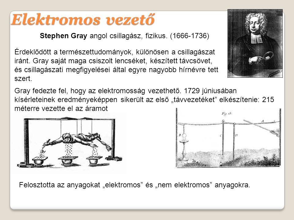 Stephen Gray angol csillagász, fizikus.
