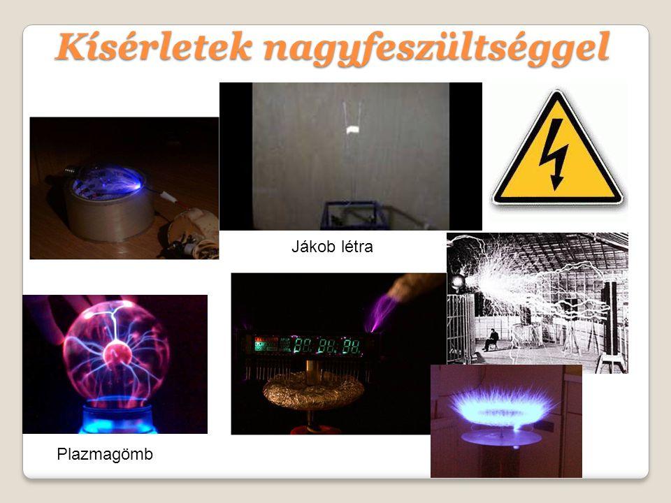 Kísérletek nagyfeszültséggel Jákob létra Plazmagömb