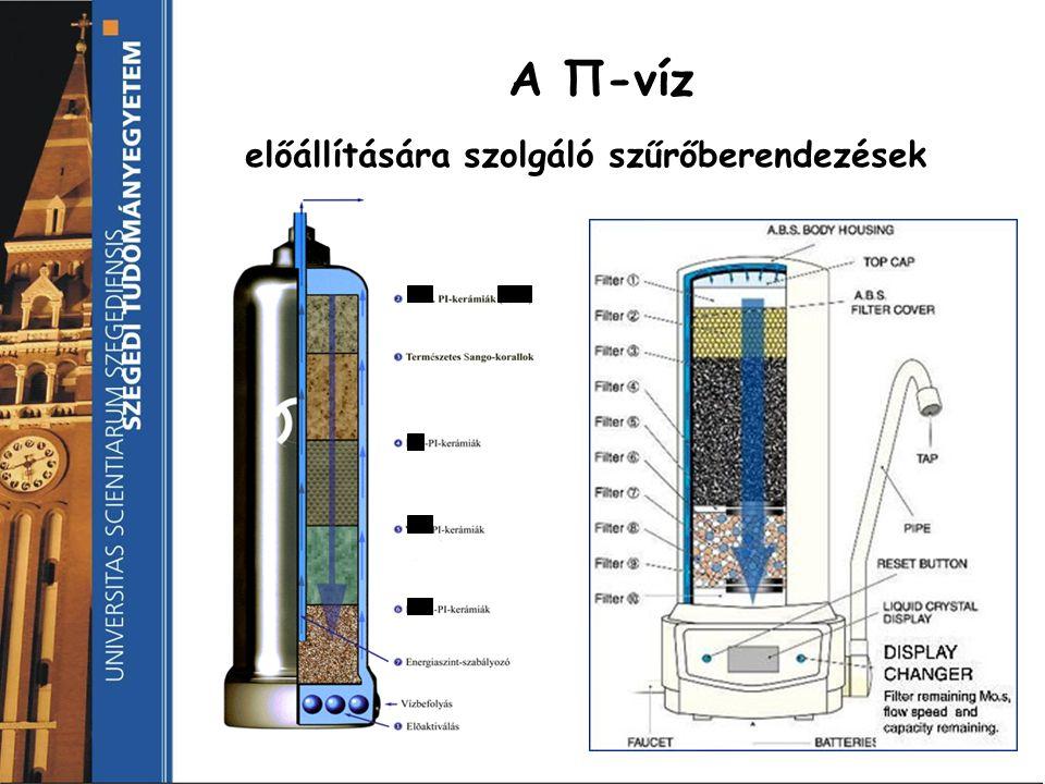 A Π-víz előállítására szolgáló szűrőberendezések
