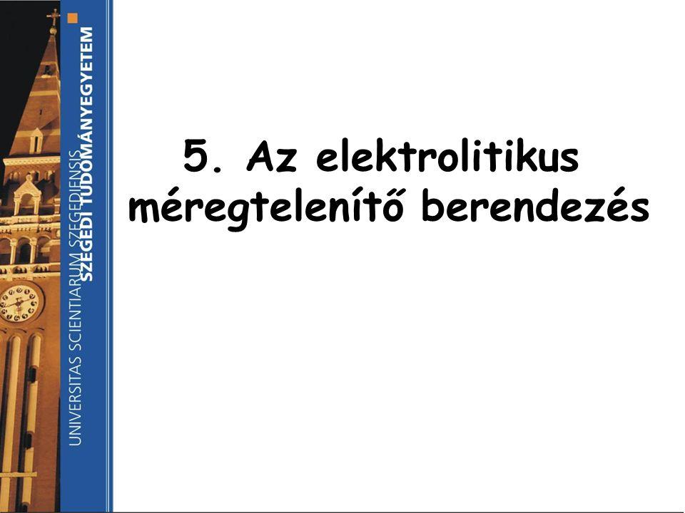 5. Az elektrolitikus méregtelenítő berendezés