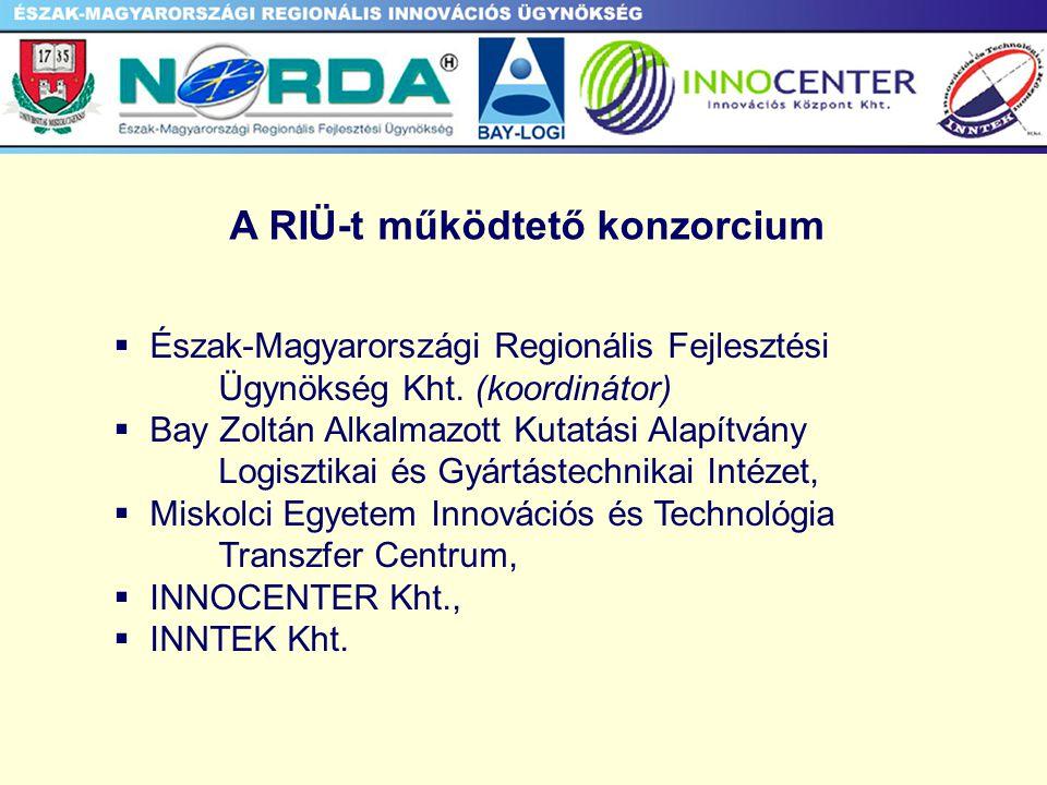 Észak-Magyarország Észak-Magyarországi Regionális Innovációs Tanács Észak-Magyarországi Regionális Fejlesztési Ügynökség Észak-Magyarországi Regionális Innovációs Ügynökség Munkabizottság Titkársági funkciók Munkaszervezet Titkársági funkciók Észak-Magyarországi Regionális Fejlesztési Tanács