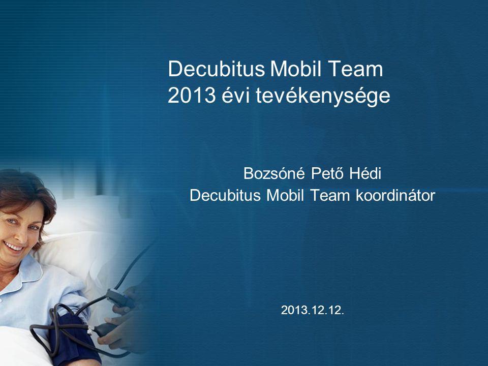 Decubitus Mobil Team 2013 évi tevékenysége Bozsóné Pető Hédi Decubitus Mobil Team koordinátor 2013.12.12.