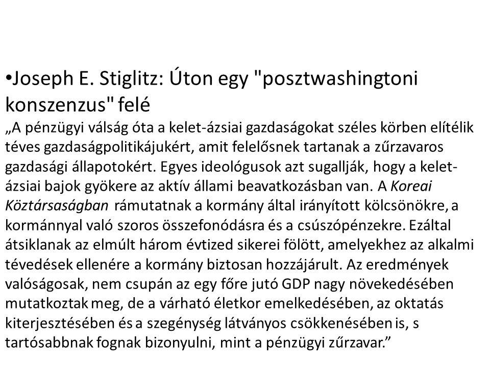 Joseph E. Stiglitz: Úton egy