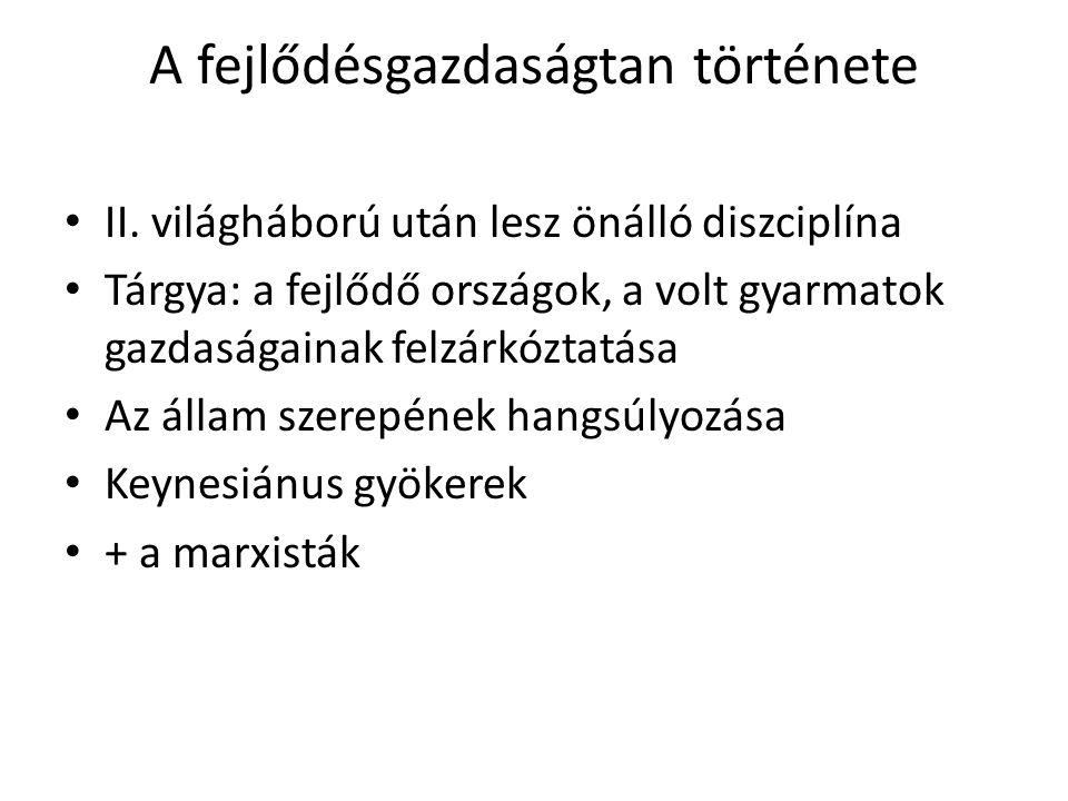 A fejlődésgazdaságtan története II.