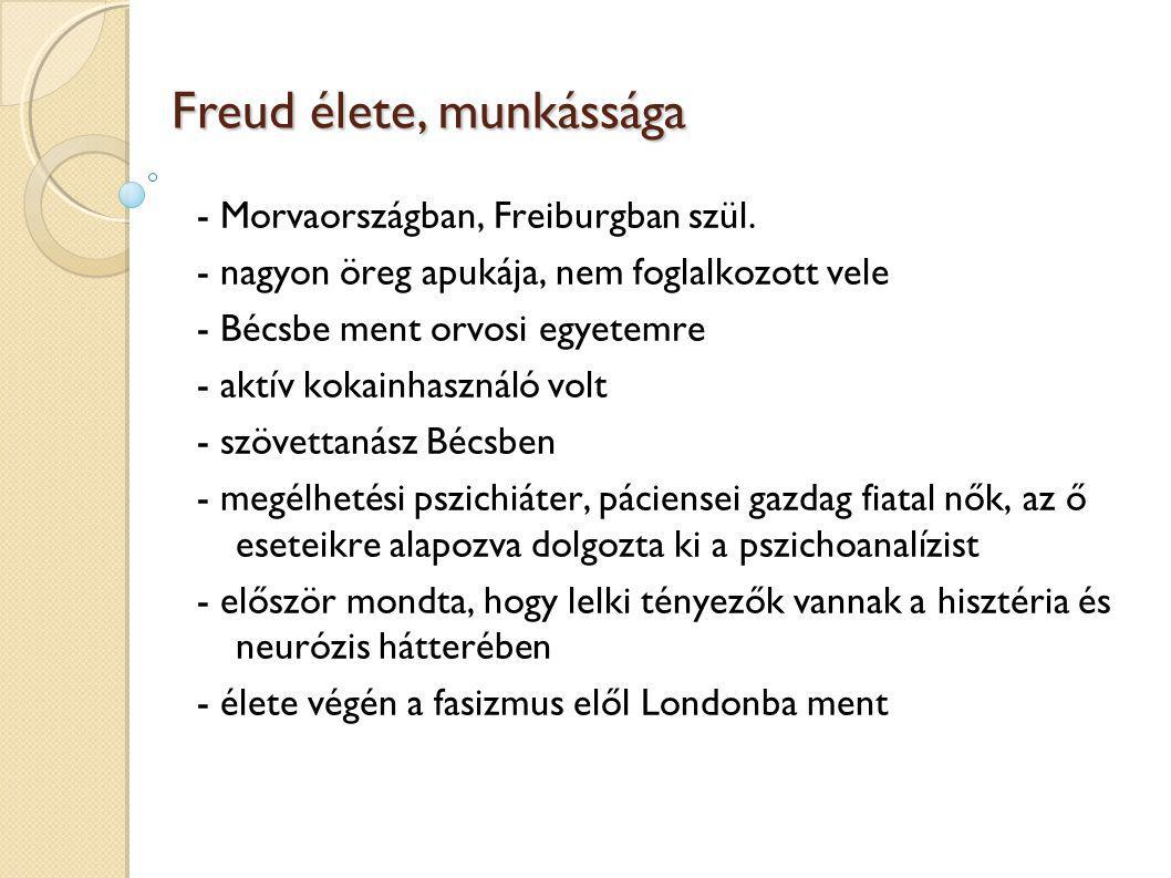 Freud élete, munkássága - Morvaországban, Freiburgban szül.