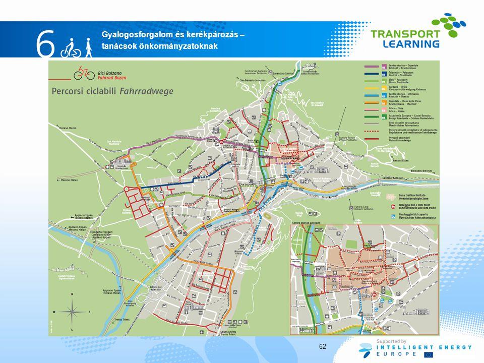 Gyalogosforgalom és kerékpározás – tanácsok önkormányzatoknak 62