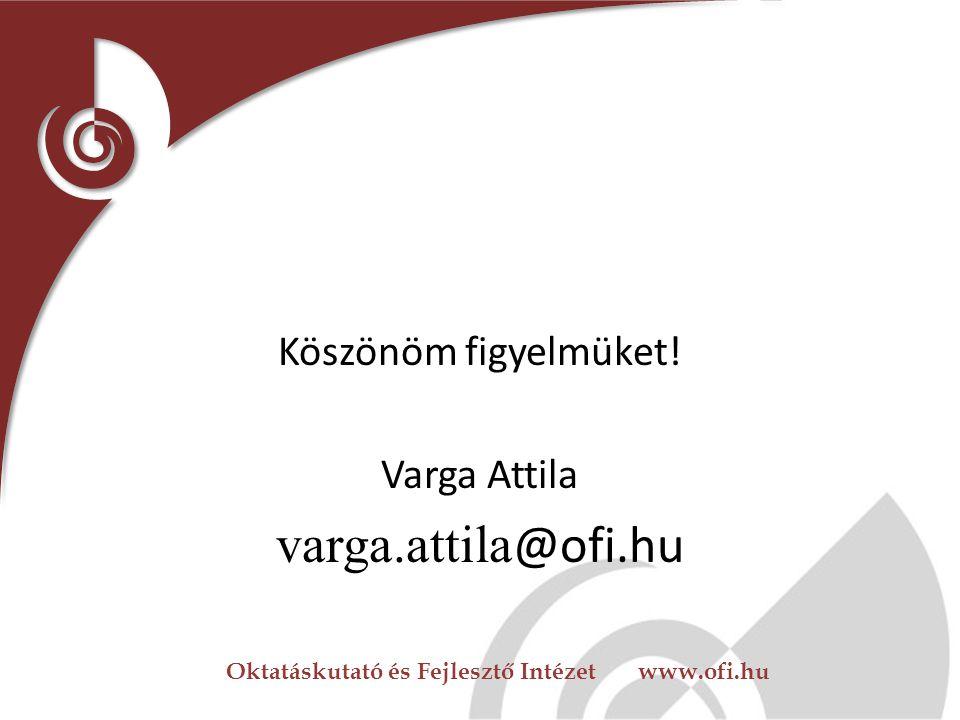 Oktatáskutató és Fejlesztő Intézet www.ofi.hu Regionális forrásközpontok legalább három éve Ökoiskola tudásforrás funkció más intézmények felé Ökoisko