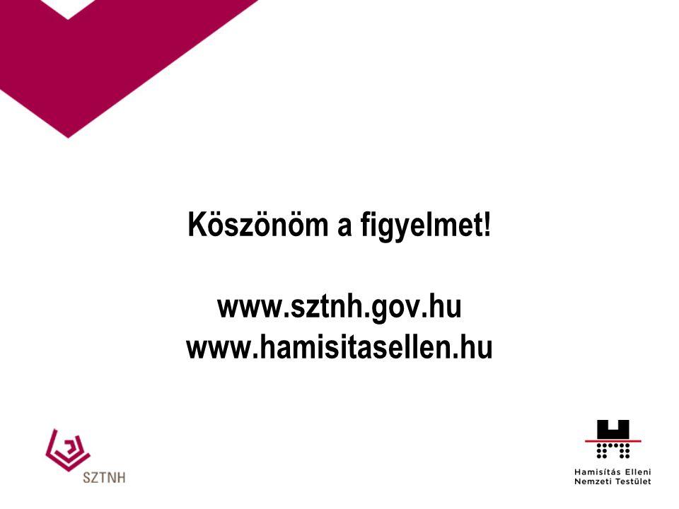 Köszönöm a figyelmet! www.sztnh.gov.hu www.hamisitasellen.hu