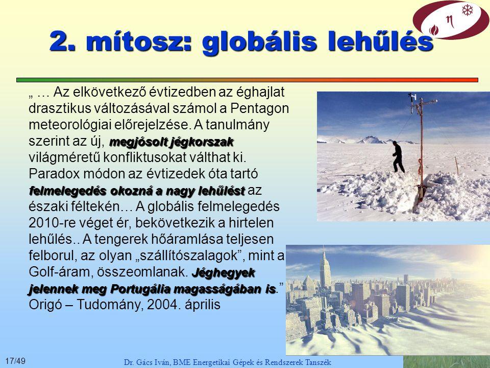 16/49 Dr.Gács Iván, BME Energetikai Gépek és Rendszerek Tanszék Mit tudunk – hogy tálaljuk.