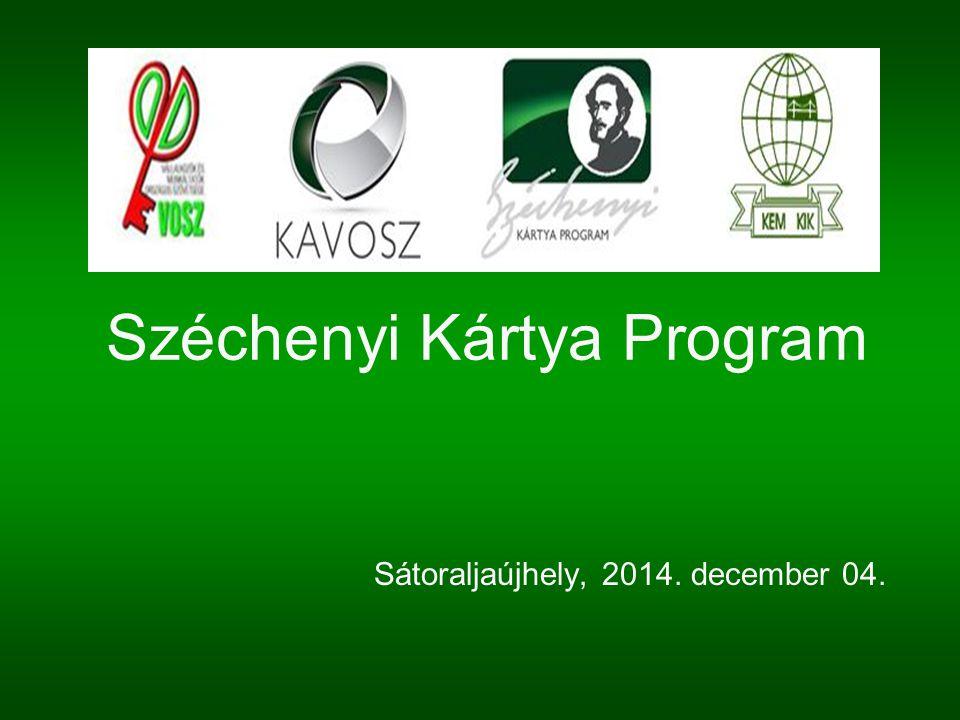 Széchenyi Kártya Program Sátoraljaújhely, 2014. december 04.