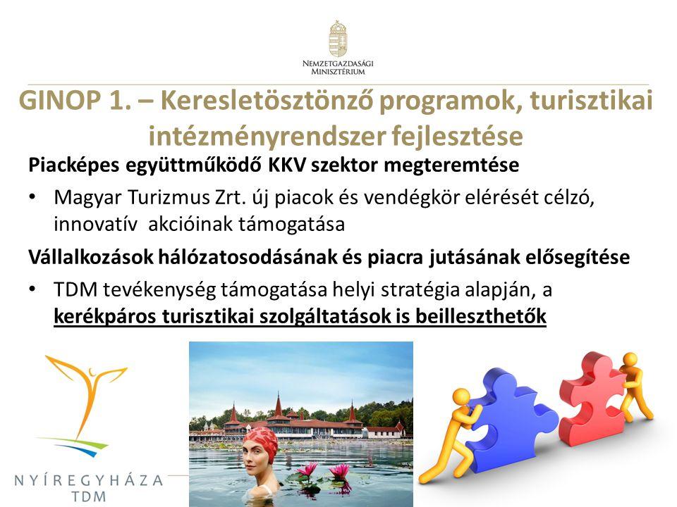 8 Piacképes együttműködő KKV szektor megteremtése Magyar Turizmus Zrt. új piacok és vendégkör elérését célzó, innovatív akcióinak támogatása Vállalkoz