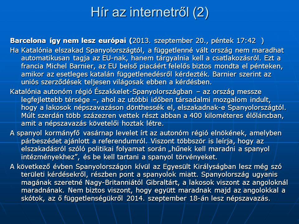 Hír az internetről (2) Barcelona így nem lesz európai (2013.