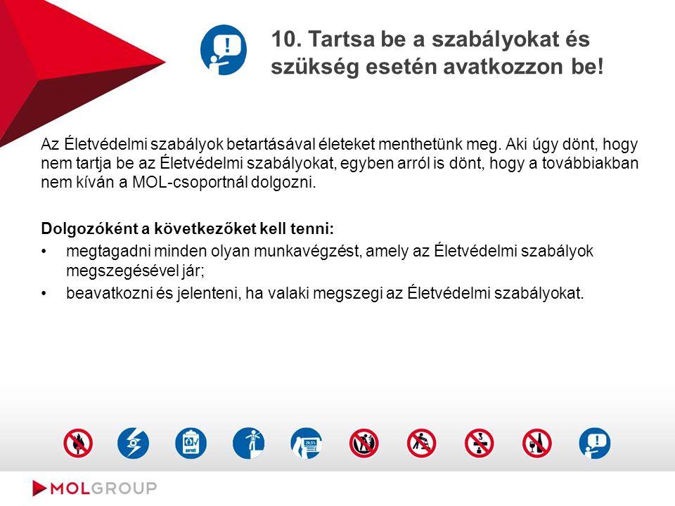 10.Tartsa be a szabályokat és szükség esetén avatkozzon be.